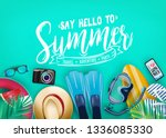 say hello to summer realistic... | Shutterstock .eps vector #1336085330