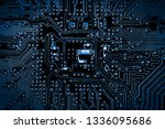 abstract close up of mainboard... | Shutterstock . vector #1336095686