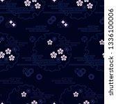 seamless vector traditional... | Shutterstock .eps vector #1336100006