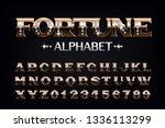 fortune alphabet font. vintage... | Shutterstock .eps vector #1336113299