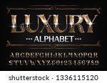 luxury alphabet font. ornate... | Shutterstock .eps vector #1336115120