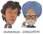 march 12  2019 caricature prime ... | Shutterstock . vector #1336124570