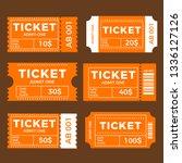 ticket set icon  vector... | Shutterstock .eps vector #1336127126