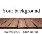 wooden table isolated on a... | Shutterstock . vector #133613393