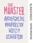 cheerful friendly font. vector. ... | Shutterstock .eps vector #1336135676
