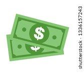 modern dollar sign vector.... | Shutterstock .eps vector #1336157243