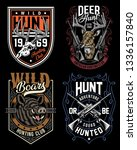hunting graphic t shirts... | Shutterstock .eps vector #1336157840