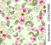 flower print. elegance seamless ... | Shutterstock .eps vector #1336159880