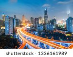 shanghai elevated road junction ... | Shutterstock . vector #1336161989
