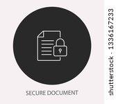data security   outline vector... | Shutterstock .eps vector #1336167233
