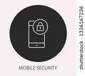 data security   outline vector... | Shutterstock .eps vector #1336167236