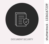 data security   outline vector... | Shutterstock .eps vector #1336167239
