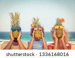 happy family on summer vacation.... | Shutterstock . vector #1336168016