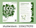 ecology brochure flyer design... | Shutterstock .eps vector #1336179293