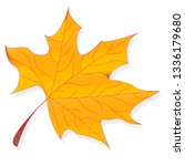 leaf autumn colorful... | Shutterstock . vector #1336179680