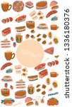 ketogenic diet meals vector set....