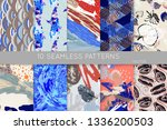 collection of seamless patterns.... | Shutterstock .eps vector #1336200503