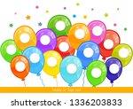 template for finger paint. for... | Shutterstock .eps vector #1336203833