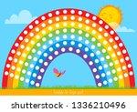 template for finger paint.... | Shutterstock .eps vector #1336210496