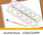 template for finger paint. for... | Shutterstock .eps vector #1336210499