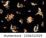 fantasy floral seamless pattern ... | Shutterstock .eps vector #1336212329