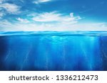 blue under water   image  | Shutterstock . vector #1336212473