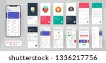 banking app ui kit for... | Shutterstock .eps vector #1336217756