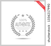 100  authentic brand icon....   Shutterstock .eps vector #1336217990