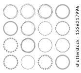 laurel wreath label badge set... | Shutterstock .eps vector #1336217996