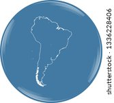 vector map of south america | Shutterstock .eps vector #1336228406