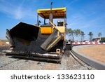 tracked paver laying fresh... | Shutterstock . vector #133623110