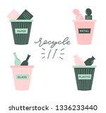 zero waste lifestyle hand drawn ... | Shutterstock .eps vector #1336233440