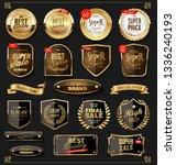 retro golden labels and badges... | Shutterstock .eps vector #1336240193