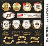 retro golden labels and badges...   Shutterstock .eps vector #1336240196