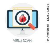 vector illustration of virus... | Shutterstock .eps vector #1336242596
