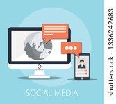 vector illustration of social... | Shutterstock .eps vector #1336242683