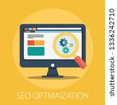 vector seo and web development... | Shutterstock .eps vector #1336242710