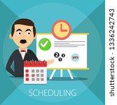 calendar and clock. concept of... | Shutterstock .eps vector #1336242743