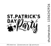 st. patrick's day greeting text ...   Shutterstock .eps vector #1336242926