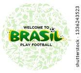 vector illustration green... | Shutterstock .eps vector #1336243523