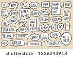 set of comic speech bubbles....   Shutterstock .eps vector #1336243913