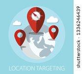 vector illustration of location ... | Shutterstock .eps vector #1336246439