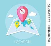 vector illustration of location ... | Shutterstock .eps vector #1336246460