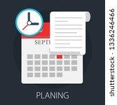 calendar and clock. concept of... | Shutterstock .eps vector #1336246466