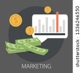 digital marketing process... | Shutterstock .eps vector #1336246550