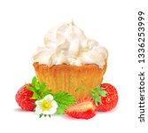 pastry with cream and... | Shutterstock .eps vector #1336253999