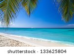 tropical sea under the blue sky | Shutterstock . vector #133625804