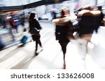 Traveling People Motion Blur Railway - Fine Art prints