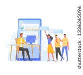 customer support manager ... | Shutterstock .eps vector #1336265096