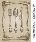 vector illustration object menu ... | Shutterstock .eps vector #133626749